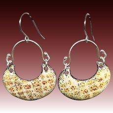 Abstract Enamel Earrings