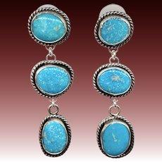 Sterling Silver Turquoise Dangle Earrings