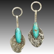 Southwest Turquoise Sterling Silver Post Earrings