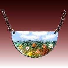 Monet Inspired Enamel Necklace