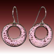 Purple Surgical Steel Earrings