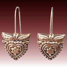 Copper Heart Earrings