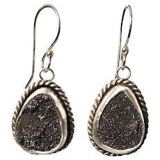 Druzy Quartz Sterling Silver Earrings