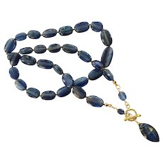 18K Solid Gold~AAA Kyanite Necklace~ One of a Kind!