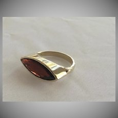 14K Solid yellow gold~ Pyrope Garnet 11 ct ring, size 7~ one of a kind