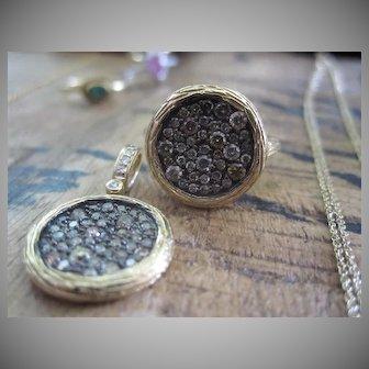 Vintage Diamond Mosaic Ring (pendant is no longer available)