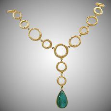"One of a Kind ~Zambian Emerald & Diamond ""Bubbles"" Necklace"