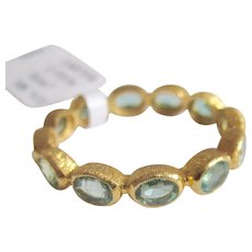 18K Solid Gold~AAA Colombian Emerald Eternity Rings in size 7~ price is per ring