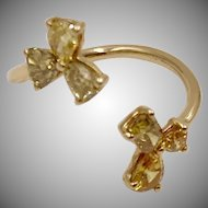 18K Solid Gold~Canary Yellow Diamond 1.54 ct.  Ring One of a kind sz 6.5