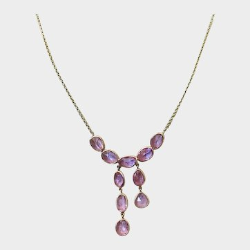 New ~18K Solid Gold~ AAA Bubblegum Pink Sapphire Necklace~ Perfection