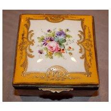 Antique Meissen Painted Porcelain Box