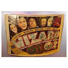 Original 1939 Wizard of Oz Movie Poster