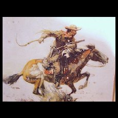 Winchester Rifles Western Tin Sign - Horse and Rider