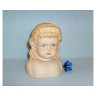 Sweet Antique German Alt, Beck & Gottschalck Bisque Doll Shoulder Head