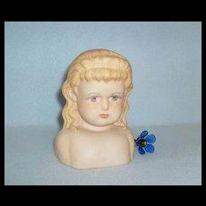Sweet Antique German Alt, Beck & Gottschalck Bisque Doll Shoulder Head