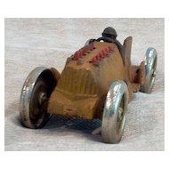 Cast Iron Hubley Race Car Toy with Flaming Pistons