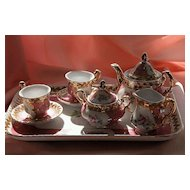Noritake Sevre mark Child's or Doll Porcelain Tea Set