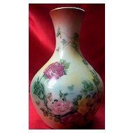 R S Prussia Porcelain Vase Roses