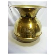 Union Pacific Railroad Brass Cuspidor