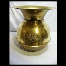 Union Pacific Railroad Brass Cuspidor