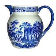 Victorian Ironstone Transferware Pitcher