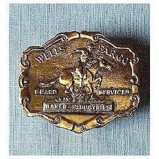 Tiffany England Bronze Wells Fargo Belt Buckle