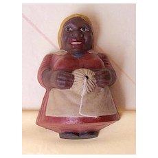 1941 Signed Ethnic Black Lady String Holder