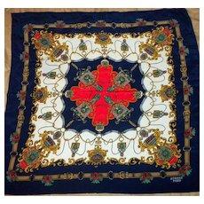 Vintage Silk Scarf Marked Hermes Paris