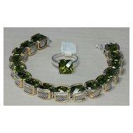 John Hardy Style Peridot Bracelet and Ring