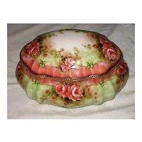 Large Limoges Porcelain Dresser Vanity Box