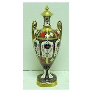 """Large 18"""" Royal Crown Derby Old Imari Lidded Vase/Urn"""