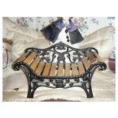 Cast Iron Victorian Doll Bench