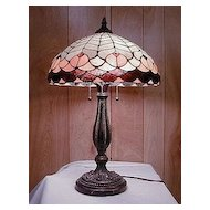 Vintage Stained Glass Lamp Beautiful Base