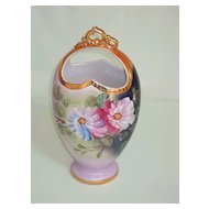 Handpainted Gold Trimmed Limoges Vase