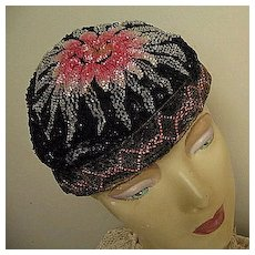 1920s Cloche Hat Candy-Color Beads