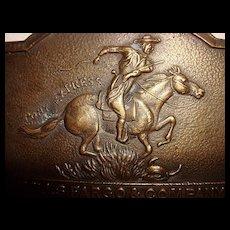 Brass Wells Fargo Buckle England - Signed Tiffany Studios New York