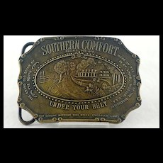 Bronze Southern Comfort Belt Buckle Signed Tiffany