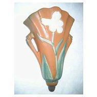 Roseville Pottery Wall Pocket - Iris 1284-8