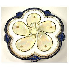 Unusual Limoges Oyster Plate