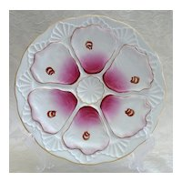 French Porcelain Six Well Oyster Plate