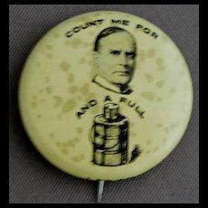 1896 McKinley Pinback Political Campaign Pin Button