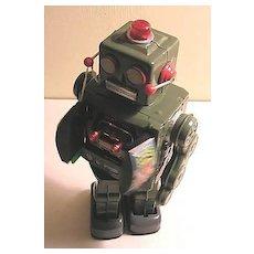 Vintage Space Walk Man Robot Tin Toy in Original Box - Works!