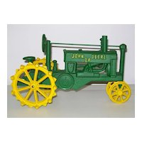Cast Iron John Deere Tractor Toy