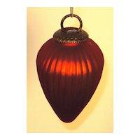 Red Glass Kugel Christmas Ornament