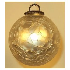 White Gass Kugel Christmas Ornament