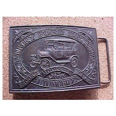 Henry Ford Model T Belt Buckle Marked Tiffany Studio - Made in England