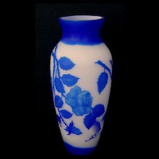 Cameo Art Glass Vase Marked Galle