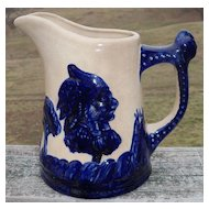 Old Sleepy Eye Blue and White Pitcher