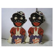 Pair Smoking Sambo Standing Cardboard Novelties