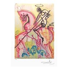 Salvador Dali print St. George slays the Dragon